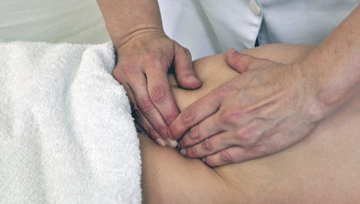 Sigmoid colon region technique in the supine position