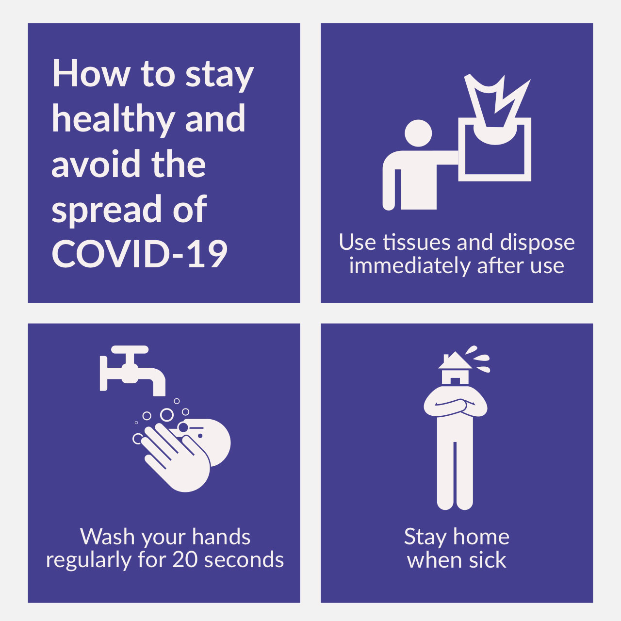 How to stay healthy and avoid the spread of COVID-19⁠