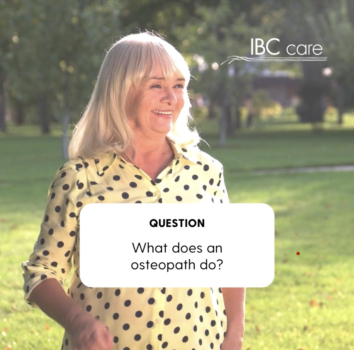 What does an osteopath do?