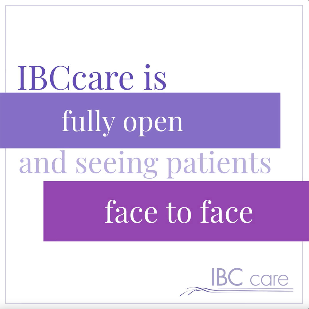 IBCcare is fully open and seeing patients face to face